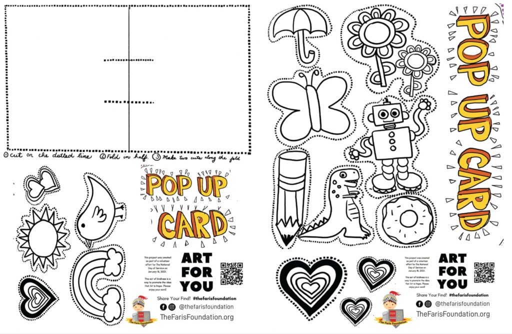 Pop Up Card Art Kit